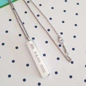 Tiffany & Co 1837 silver bar necklace
